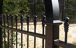 wrought iron privacy fence. Exellent Wrought Wrought Iron Fence A Shows Prestige Intended Privacy